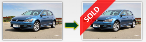 image of car listing going from 'forsale' to 'sold'